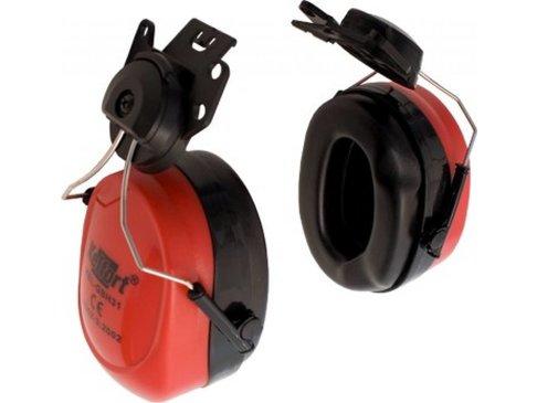 Gehoorbeschermer voor helmbevestiging rood