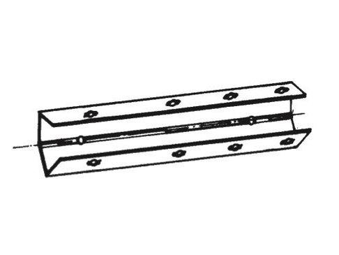 Bekistingelement scharnierhoek 9,5 x 9,5 x 75 cm verzinkt zonder spangat