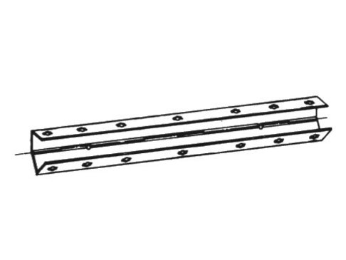 Bekistingelement Scharnierhoek 9,5 x 9,5 x 125 cm verzinkt zonder spangat