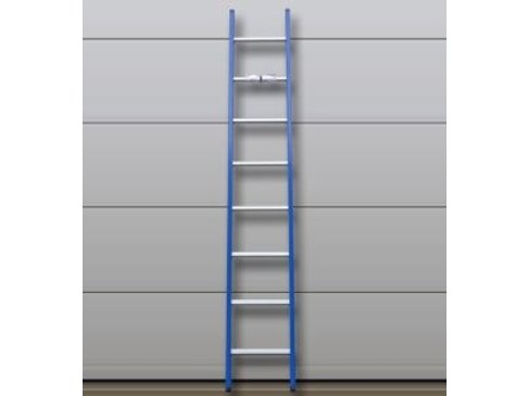 DAS Atlas 'Blue' ladder gebogen - gecoat 5,13m