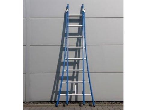 DAS Atlas 'Blue' dubbele ladder - gecoat 2,25m tot 3,75m