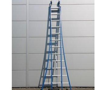 DAS Atlas 'Blue' dubbele ladder - gecoat 3,25m tot 5,75m