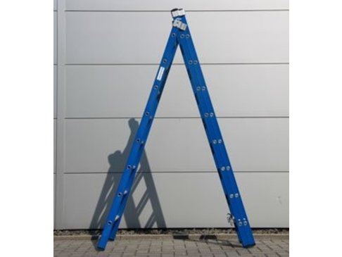 DAS Atlas 'Blue' 3-delige ladder - gecoat 2,25m tot 5,25m