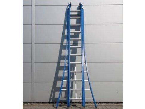 DAS Atlas 'Blue' 3-delige ladder - gecoat 3,25m tot 7,75m