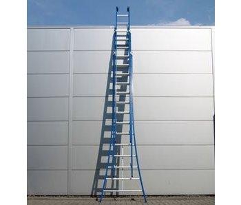 DAS Atlas 'Blue' 3-delige ladder - gecoat 3,80m tot 9,05m