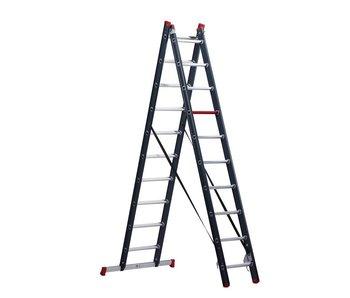 Atlantis - aluminium ladder - 2-delig reform 4,6m