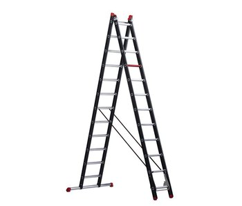 Mounter - aluminium ladder (gecoat) - 2-delig reform 6,05m