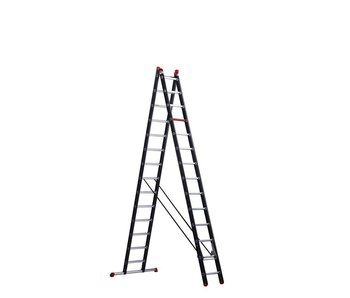 Mounter - aluminium ladder (gecoat) - 2-delig reform 6,9m