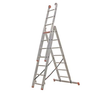 All Round - aluminium ladder - 3-delig reform 4,4m