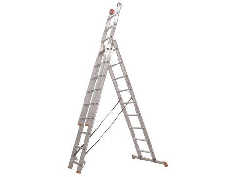 All Round - aluminium ladder - 3-delig reform 5,9m