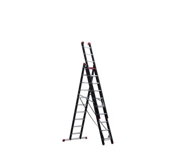 Mounter - aluminium ladder (gecoat) - 3-delig reform 6,65m