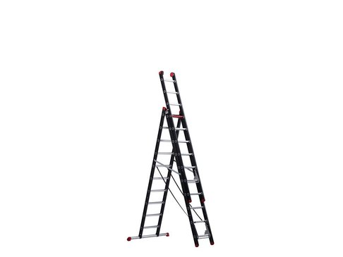 Mounter - aluminium ladder (gecoat) - 3-delig reform 6,65m