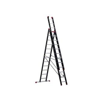 Mounter - aluminium ladder (gecoat) - 3-delig reform 8,0m