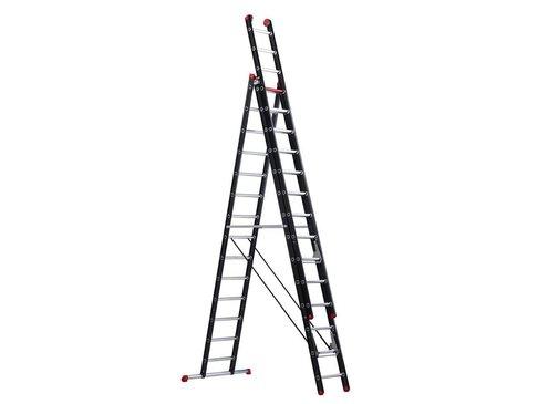 Mounter - aluminium ladder (gecoat) - 3-delig reform 9,35m