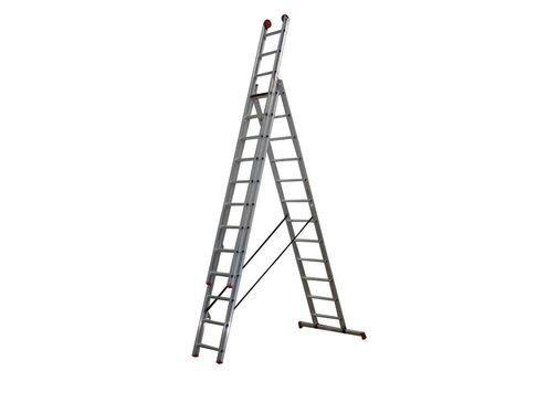 All Round - aluminium ladder - 3-delig reform 7,65m