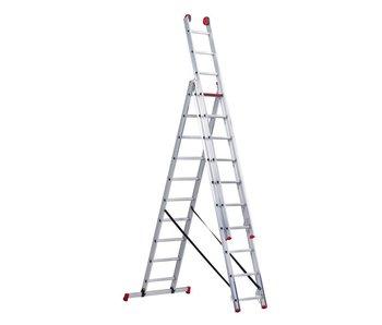 All Round - aluminium ladder - 3-delig reform 6,65m
