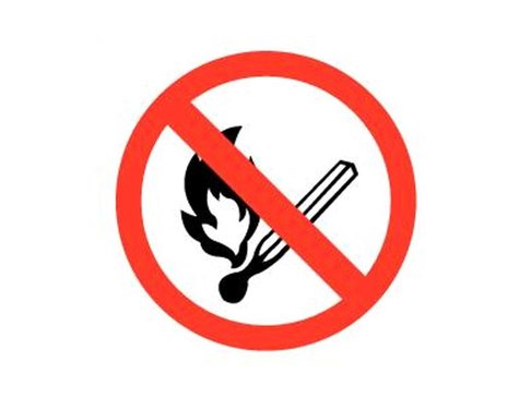 Bord Open vuur verboden