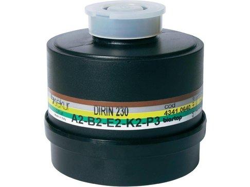 Schroeffilter voor halfgelaatmasker DIRIN 230 - ABEK2-P3R D