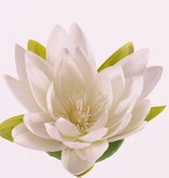 "Lotusflower (Wasserlilie) ""Floating Flora"", x9petals, Ø 16cm, foam base"