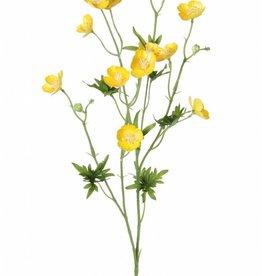 Boterbloemen, 12 bloemen, 3 knoppen, 7 bladeren, 68 cm