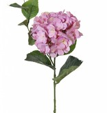 "Hortensia ""Spring Dream""  1 flor (con 96 petals), 10 hojas , 78cm,  Ø 15cm"