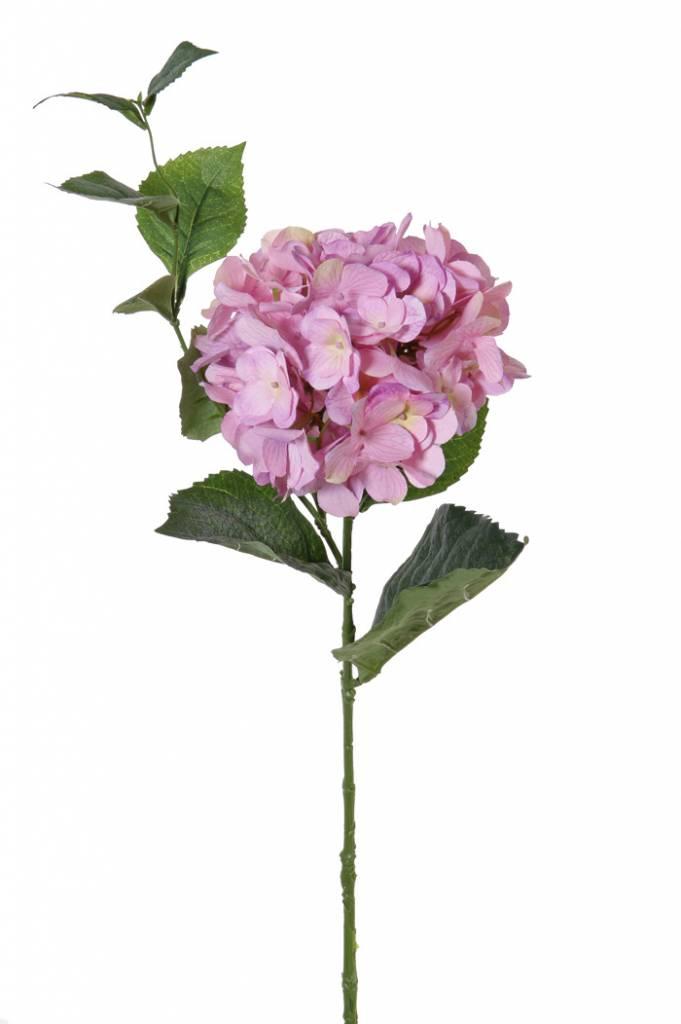 "Hydrangea ""Spring Dream"" x1flr (96petals), x10lvs & vine, 78cm, Ø 15cm"