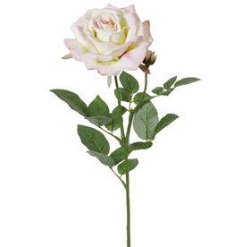 "Rosa de luxe ""Fleuri"" ,1 flor, Ø 12cm, 1 capullo, 20 hojas, 70cm"