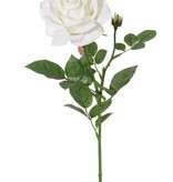 "Rose de luxe ""Fleuri"", Ø 12cm, 1 bud, 20 leaves, 70cm"