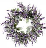 Lavendelkranz (Lavandula) Ø15CM/Ø30CM, mit 69 Rispen, beflockt