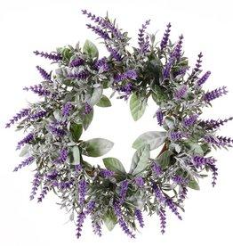Corona de flores de lavanda (Lavandula)  Ø 15cm/ Ø  30cm,  69 flores