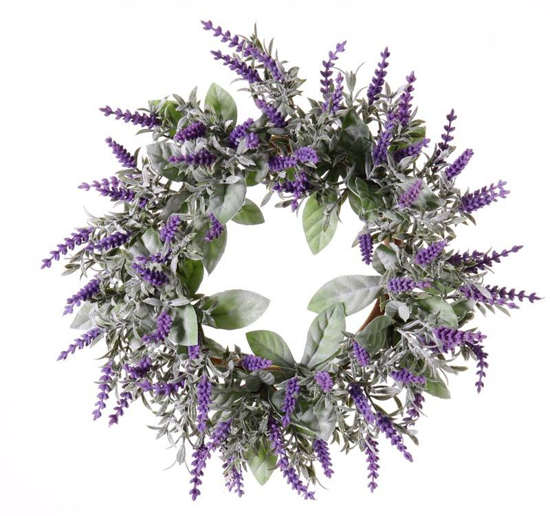 Lavender Wreath (Lavandula) Ø 15CM/30CM with 69 flowers, flocked