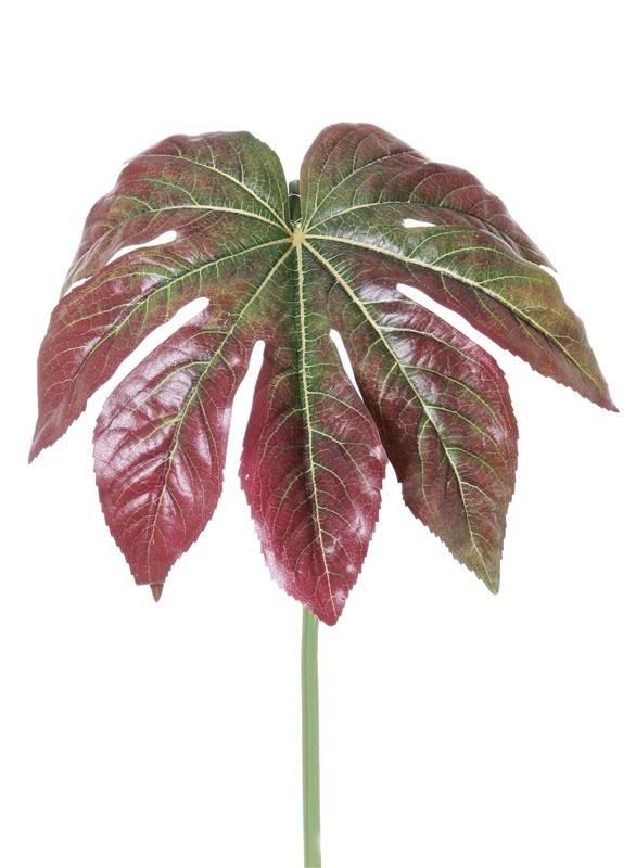 Fatsia leaf (Finger plant) ø33cm, coated, long stem, 81cm