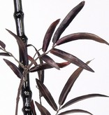 Porcelain bamboo black, black trunk, with leaves, 152cm - very classy