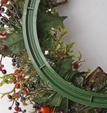 Christmas wreath with appel, red berries, cones, ivy (frozen ice) Ø 21cm/37cm