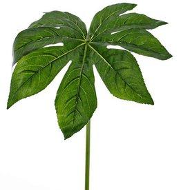 Fatsia leaf  ø 33 cm, coated, 81 cm