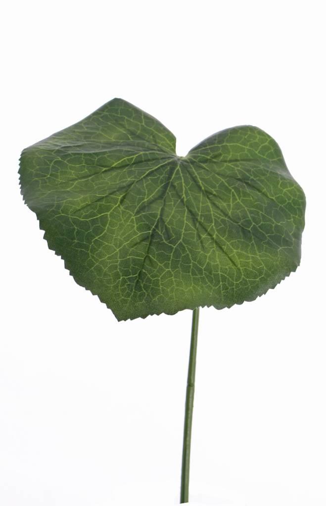 Galax blad extra large, plastic groene steel (36cm), Ø 20cm