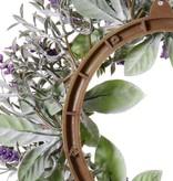lavendelkrans (lavendula) Ø15cm / Ø30cm, x69flrs, flocked
