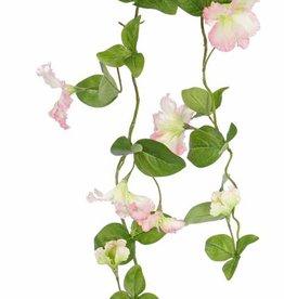Petunia garland, 14 flowers, 7 buds, 40 leaves, 132cm