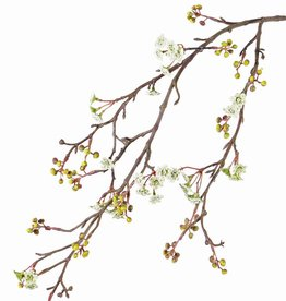 Maple fruit (Acer) , 10 bloementrossen & 15  bessentrosjes, 96 cm