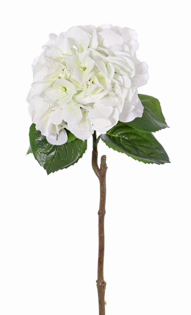 """Hortensia """"Sensitive"""", Ø 18cm, 52 bloemblaadjes & 5 bladeren, 60cm"""