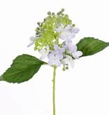 "Hydrangea ""fresh bloom"" , 15 flowers, 2 leaves & soft pvc buds, 33 cm"