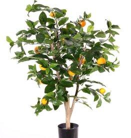 Orangenbäumchen mit 13 Orangen (7 medium, 6 klein), 378 Blätter, 85 cm
