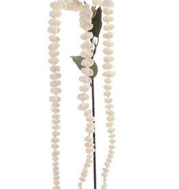 """Amaranthus """"de luxe"""" 3 flores, 3 hojas, tallo c méchon 73cm"""