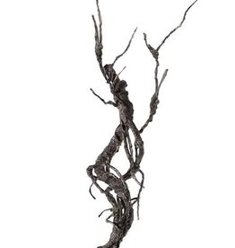 "Deco twig, ""curly"", coated, 55cm"