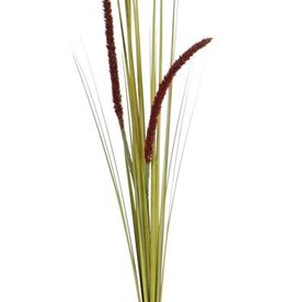 Carex en flor, 2 flores, 22 hojas, PVC, 90cm