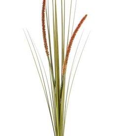 Grass bush flowering (Cattail), 2 flrs, 22 lvs., PVC, 90cm