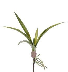 Hoja de Orchídea (plástico suave),  <--> ca. 39cm , 12 hojas con aéreas