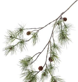 Pine Spray (Pinus), 4 real cones, 17 pine clusters, 110cm