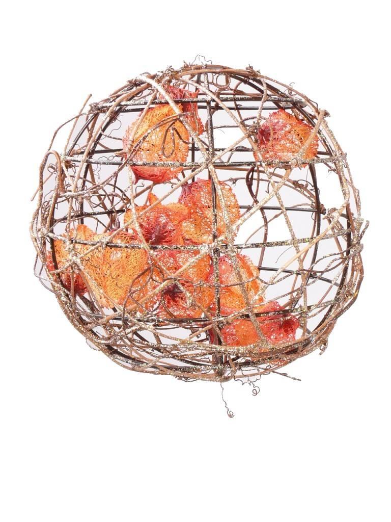 Bola de ramitas con frutos de physalis, Ø25cm