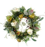 Phalaenopsis/apple/pine wreath 15cm